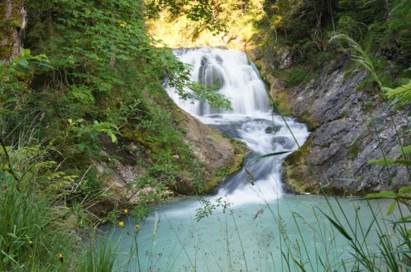 Sachensee-Wasserfall bei Wallgau