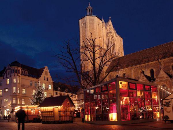 Weihnachtsmarkt in Braunschweig bei Nacht