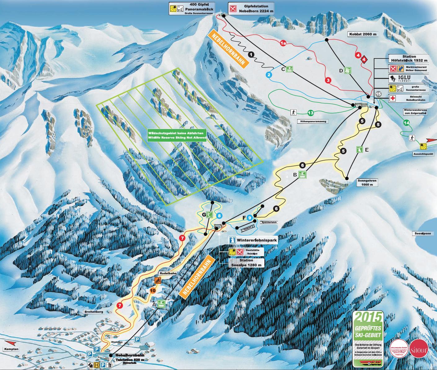 Pistenplan <br>Nebelhorn