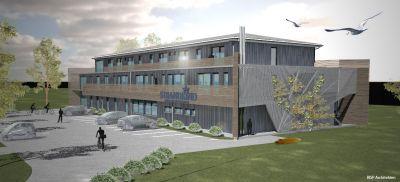 Neues Hotel aus Holz an der Ostsee