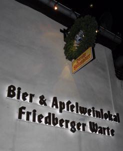 Bier- und Apfelweinlokal Friedberger Warte: