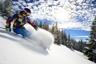 Neuschnee in den Colorado Rocky Mountains