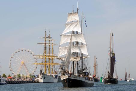 Segel-Giganten und Seemannsgarn - 19. Hanse Sail in Rostock
