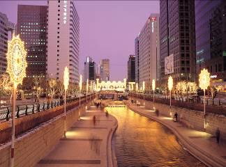 Seoul: Lasershow für Nachtschwärmer