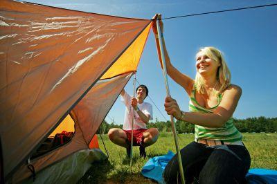Zelten in der Jugendherberge