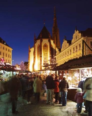 Stimmungsvoller Weihnachtsmarkt in Würzburg